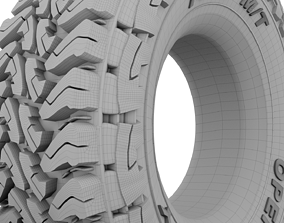 3D Car Tire - Toyo Open Country TIRE