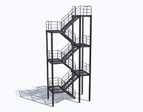 3D Industrial Stairs