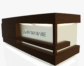 Reception Desk 1 3D model