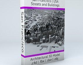 San Francisco Streets and Buildings landmark 3D model