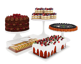 3D Fruit berry cake collection 2