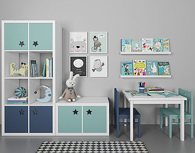 Furniture for childrens room table 3D