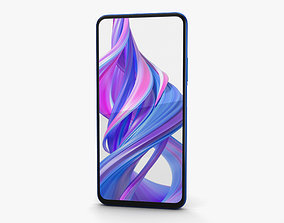 screen 3D model Honor 9X Charm Sea Blue
