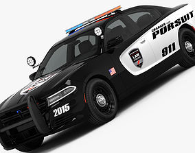 Dodge Charger Pursuit 2015 detailed interior 3D