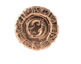 3D print model Medal Astro Pisces