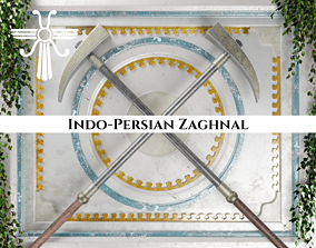 Ancient Indo Persian Zaghnal 3D model
