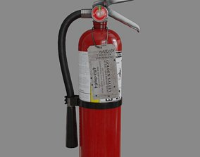 3D asset low-poly Fire Extinguisher emergency