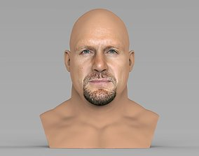 Stone Cold Steve Austin bust ready for full color 3D 1