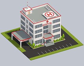 3D model Low Poly Hospital