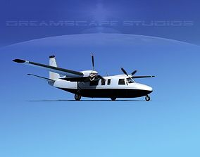 3D Rockwell Turbo Commander 690 V10