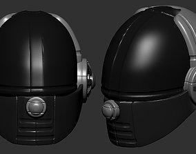 gas mask helmet scifi high poly sculpt ver 1 3d