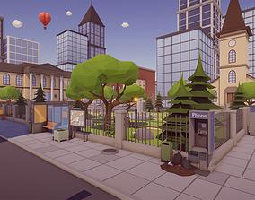 Low Poly Megapolis Pack 3D model