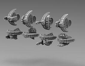 Modular Greater Good alt drones 3D print model 1