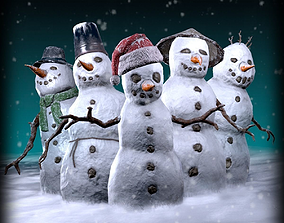 SnowMan pack 3D model