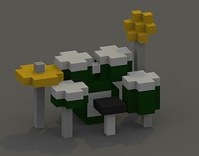 3D asset Drumkit Voxel Model
