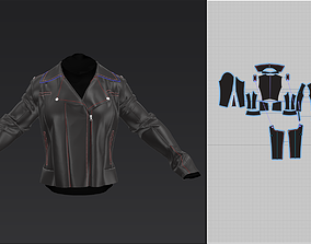 3D biker jacket
