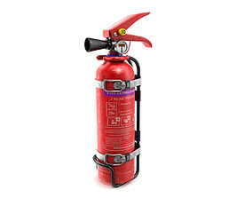 low 3D Fire Extinguisher