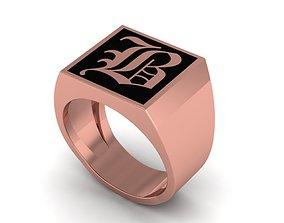 Old English Letter Ring B 3D printable model
