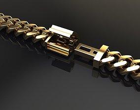 DAINTY CUBAN NECKLACE BRACELET LINK 5MM 3D printable model