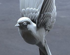 bird tit bullfinch Sparrow nightingale 3d model