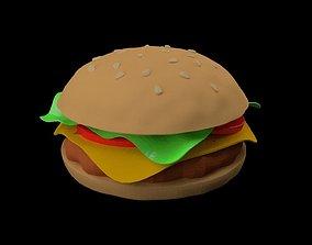 hamburger cheeseburger 3D mc