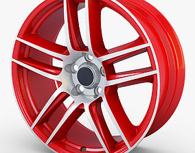 Boss 302 19 Laguna Seca wheel red 3D