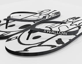 3D Slippers Swallow flipflop