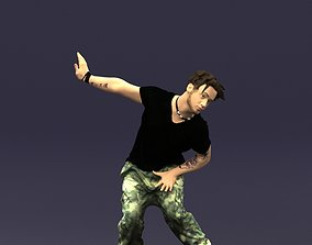 Mad dancer man 0430 3D Print ready
