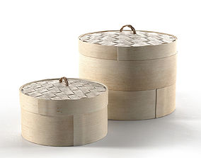 Round Storage Boxes 3D model