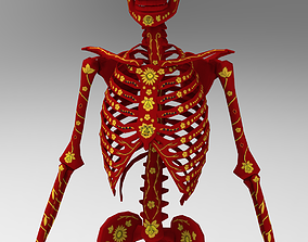 Humanoid rig low poly skeleton 3D asset
