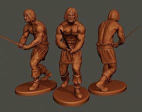 Male Barbarian 2HSword 3D printable model