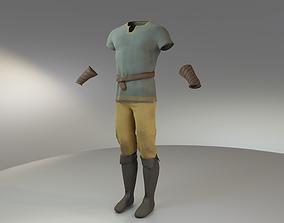 Medieval Peasant Man Clothing 3D asset