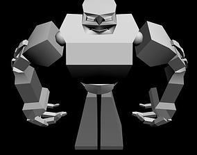 robot 3D model metalic