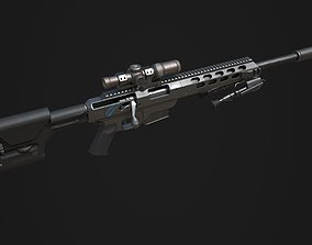 3D model Tac 21 Sniper rifle Game ready