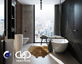 Bathroom Interior Scene for Cinema 4D and Vray 3D model