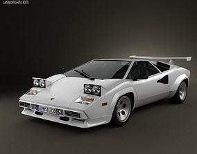 3D Lamborghini Countach 5000 QV 1985