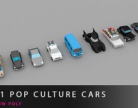 11 pop culture cars 3D asset realtime