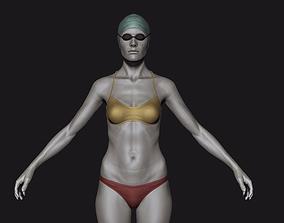 3D Lola Female Swimmer Character Base Mesh