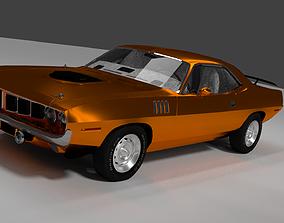 1971 Plymouth Hemi Barracuda Mid-Poly 3D