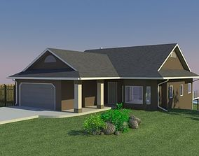 3D model Home with Walkout Basement