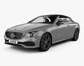 3D model Mercedes-Benz E-class A238 cabriolet 2016