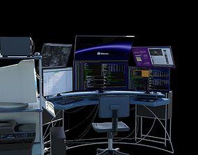 3D model hacker desk