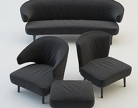 3D model Living room furniture set 1