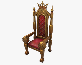 3D model low-poly Throne