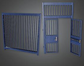 Exterior Metal Gate Set - CLA - PBR Game Ready 3D asset