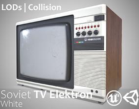 Retro Soviet TV Elektron White - Updated for 2021 3D asset