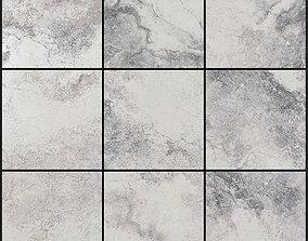 Yurtbay Seramik Bizantino Bianco 300x300 Set 4 3D