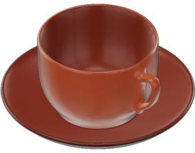 3D model interior drink Coffee Cup