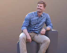 3D asset Andrew 10393 - Sitting Casual Man