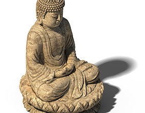 3D model White Chishan Buddha 02